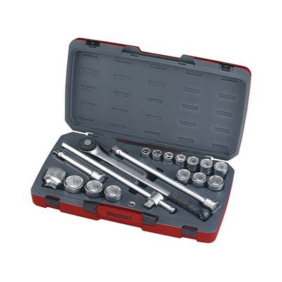 Teng T3418-6 Socket Set of 18 Metric 3/4in Drive