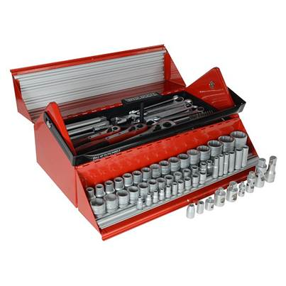 Teng TC187 Mega Rosso Tool Kit Set of 187 1/4 3/8 & 1/2in