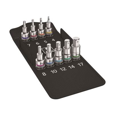 Wera 8740 C HF Zyklop In-Hex Bolt Hold Socket Set of 10 Metric 1/2in Drive