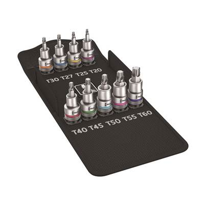 Wera 8767 C Zyklop Torx HF Screw Hold Socket Set of 9 1/2in Drive