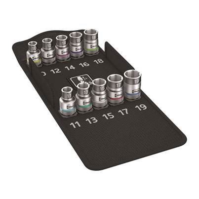 Wera 8790 HMC HF/10 Zyklop Screw Hold Socket Set of 9 Metric 1/2in Drive