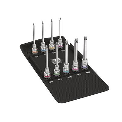 Wera 8767 C Torx HF Zyklop Socket Set of 9 Metric 1/2in Drive