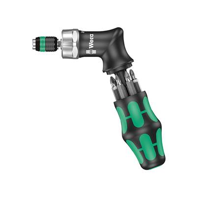 Wera KK Pistol RA High Torque Ratchet Screwdriver & 6 Bits