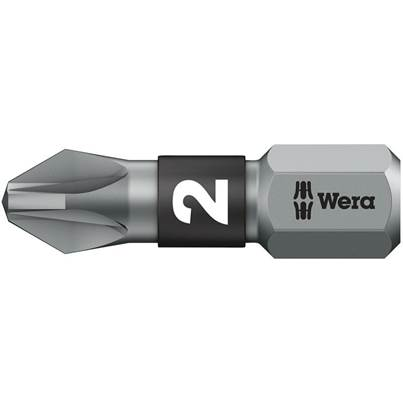 Wera 855/1 BTZ BiTorsion Pozidriv PZ2 Bit Extra Tough 25mm Pack 10