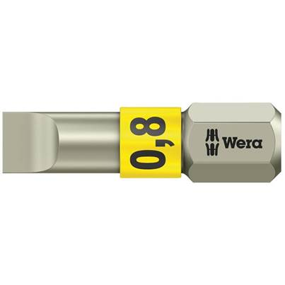 Wera Stainless Steel Slotted Bits TS Torsion